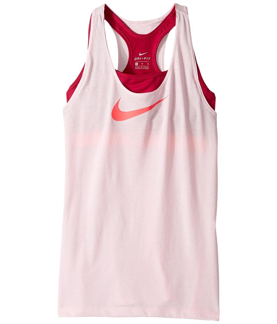 Nike Kids - Breathe 2-in-1 Training Tank (Little Kids/Big Kids) (Prism Pink/Sport Fuchsia/Racer Pink) Girl's Sleeveless