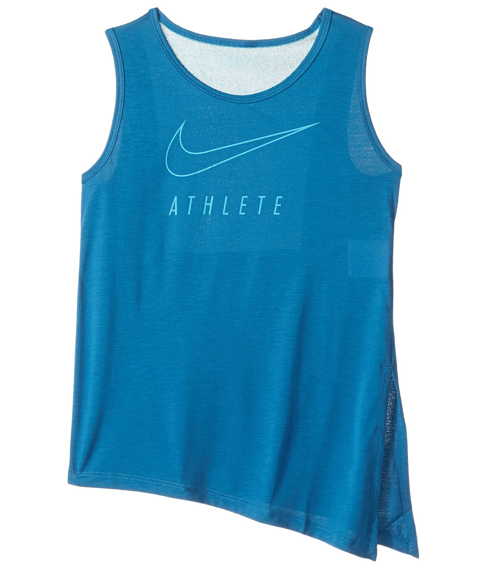 Nike Kids - Breathe Training Tank (Little Kids/Big Kids) (Industrial Blue/Chlorine Blue) Girl's Sleeveless