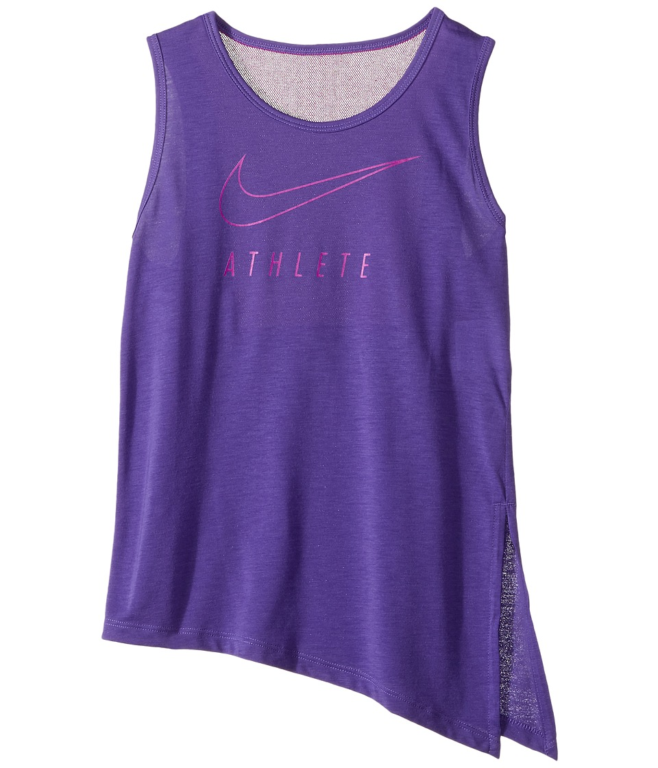 Nike Kids - Breathe Training Tank (Little Kids/Big Kids) (Dark Iris/Vivid Purple) Girl's Sleeveless