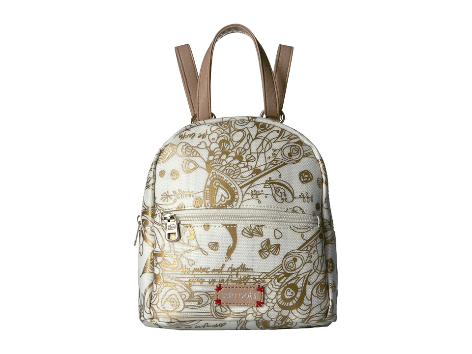 Sakroots - Mini Crossbody Backpack (Gold Songbird) Backpack Bags