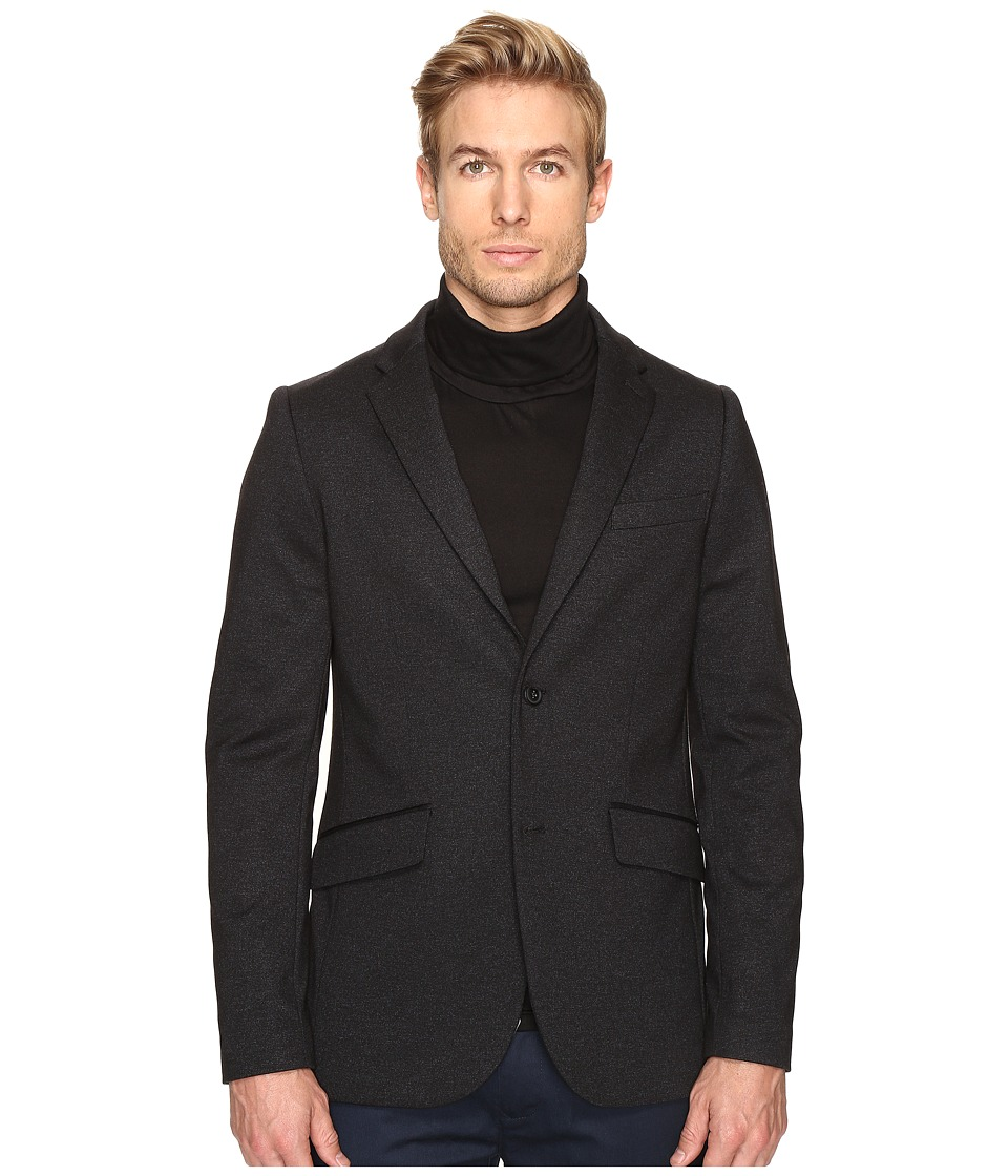 Perry Ellis - Slim Sport Fit Ponte Jacket (Charcoal) Men's Coat