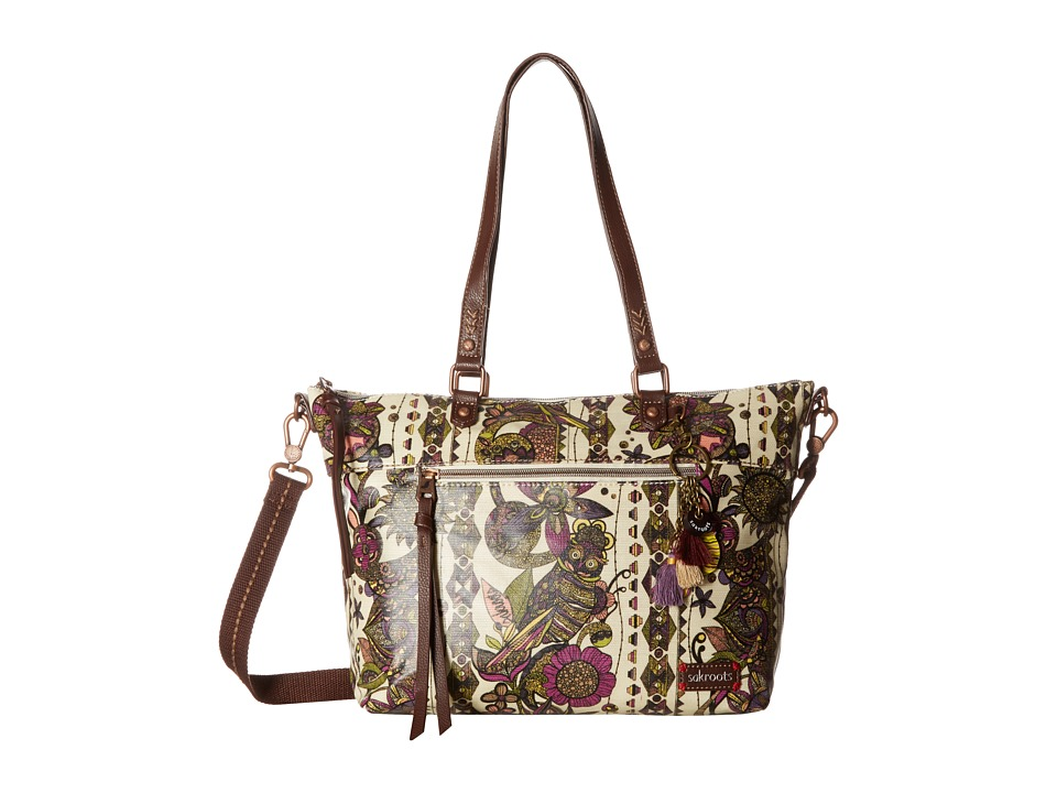 Sakroots - Artist Circle City Satchel (Ivory Spirit Desert) Satchel Handbags