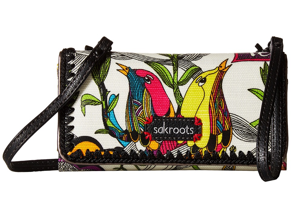 Sakroots - Artist Circle Tech Wallet Crossbody (Optic Peace) Cross Body Handbags