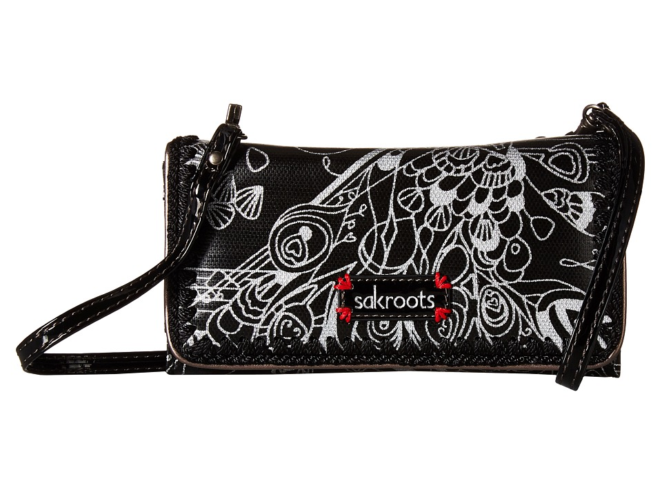 Sakroots - Artist Circle Tech Wallet Crossbody (Metallic Songbird) Cross Body Handbags