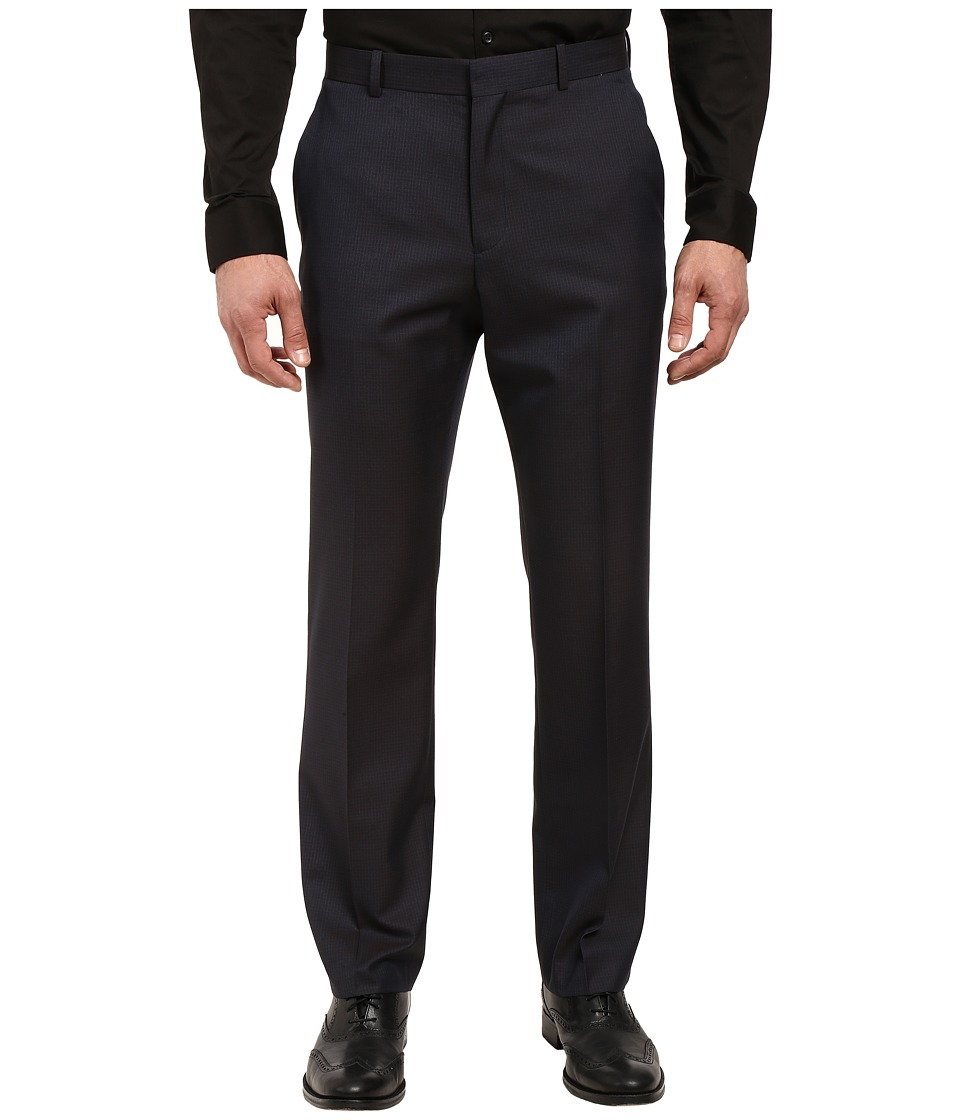 Perry Ellis - Mini Check Dress Pants (Navy) Men's Dress Pants