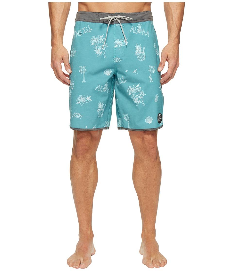 O'Neill - Hyperfreak Braloha Superfreak Series Boardshorts (Jade) Men's Swimwear