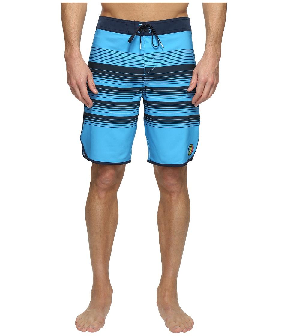 O'Neill - Hyperfreak Generator Scallop Superfreak Series Boardshorts (Neon Blue) Men's Swimwear