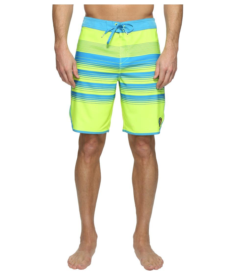 O'Neill - Hyperfreak Generator Scallop Superfreak Series Boardshorts (Neon Yellow) Men's Swimwear