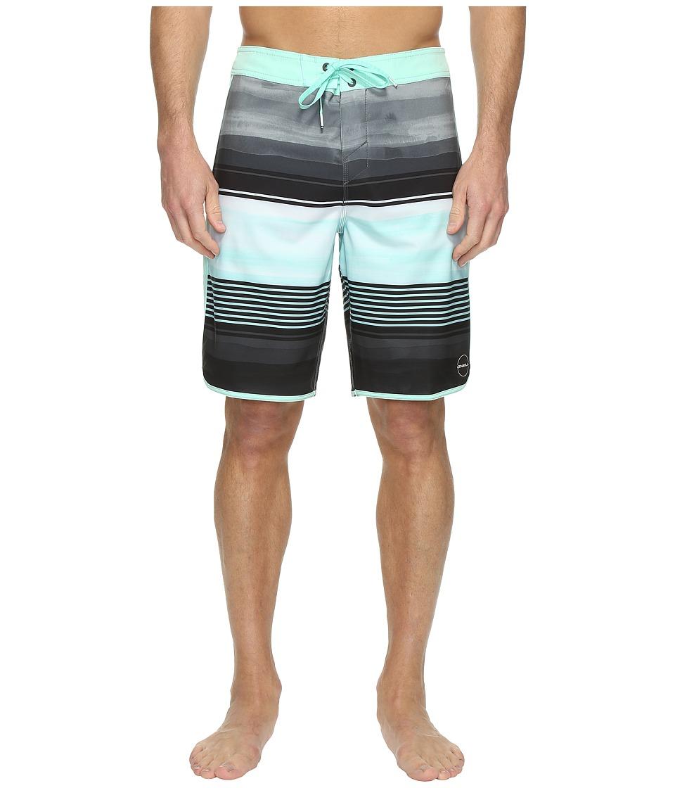 O'Neill - Hyperfreak Heist Scallop Superfreak Series Boardshorts (Aqua) Men's Swimwear