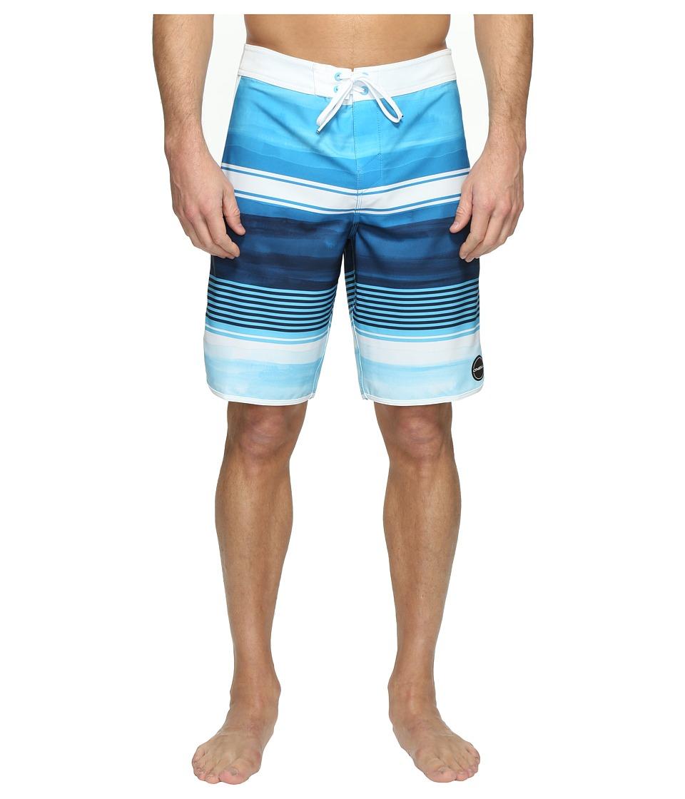 O'Neill - Hyperfreak Heist Scallop Superfreak Series Boardshorts (Blue) Men's Swimwear