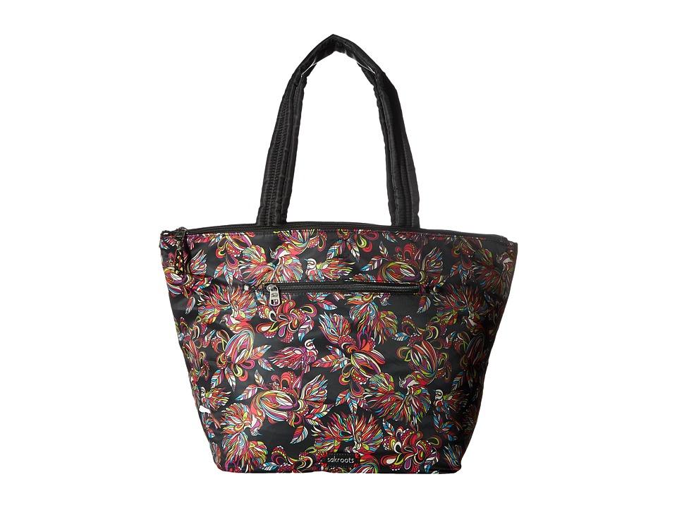 Sakroots - Kota Reversible Nylon Tote (Jet Treehouse) Tote Handbags