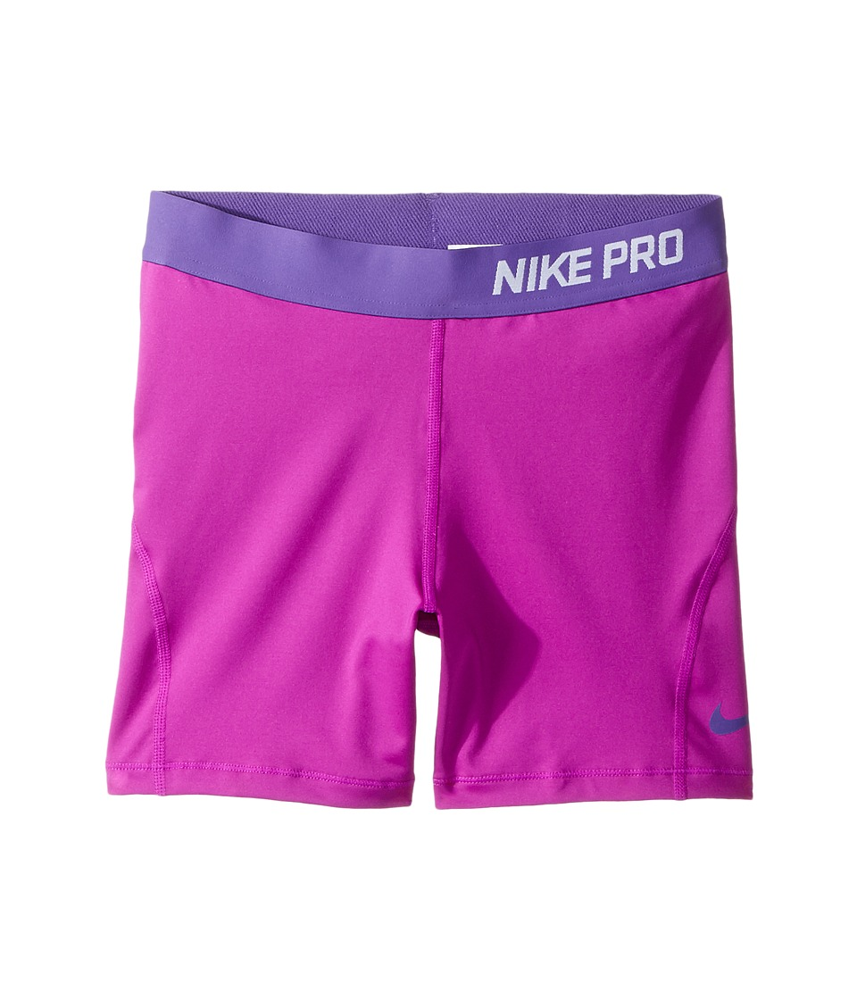 Nike Kids - Pro Cool 4 Training Short (Little Kid/Big Kid) (Vivid Purple/Dark Iris/Dark Iris) Girl's Shorts