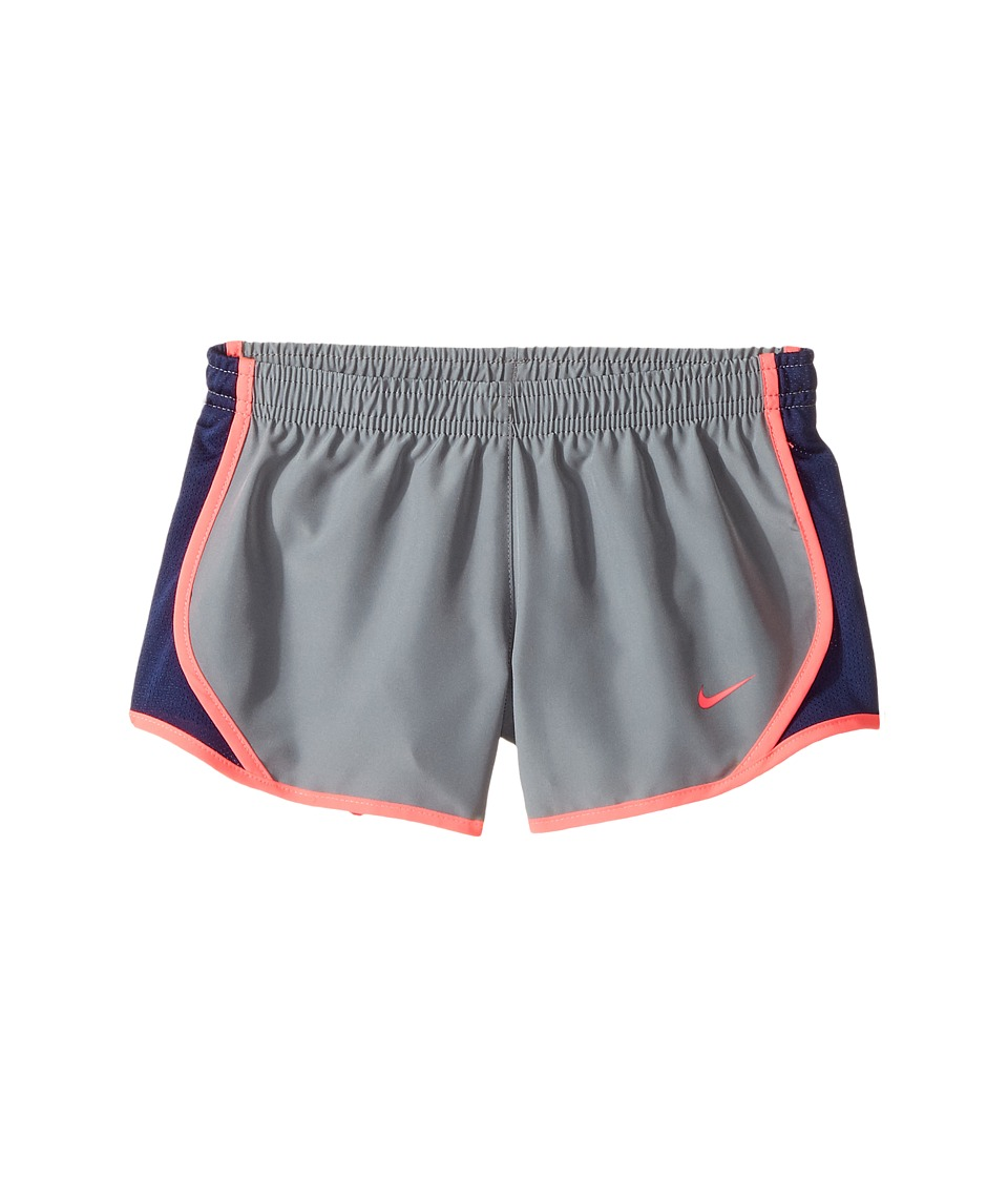 Nike Kids - Dry Tempo Running Short (Little Kids/Big Kids) (Cool Grey/Binary Blue/Racer Pink) Girl's Shorts