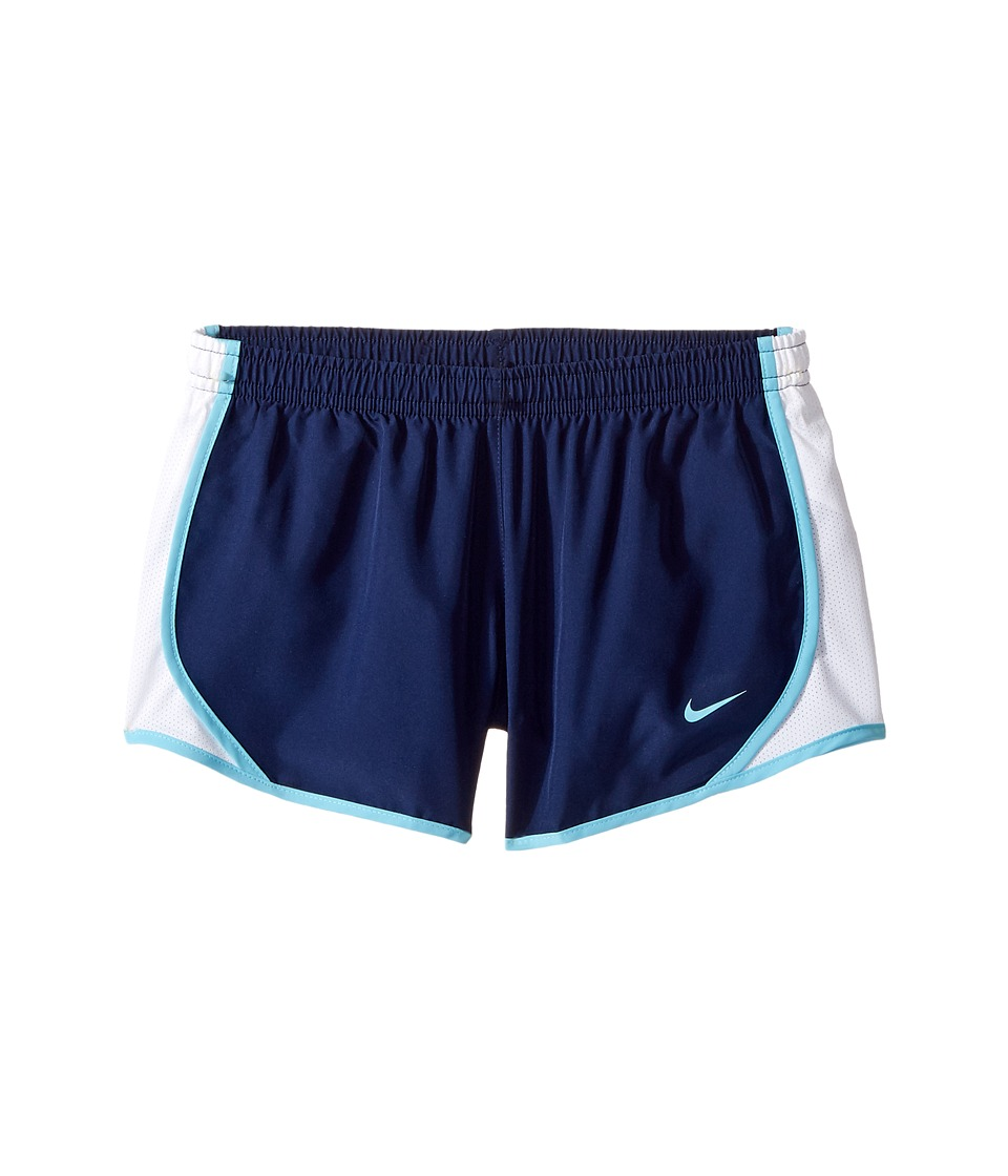 Nike Kids - Dry Tempo Running Short (Little Kids/Big Kids) (Binary Blue/White/Vivid Sky/Vivid Sky) Girl's Shorts