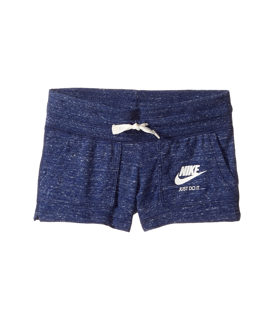 Nike Kids - Gym Vintage Shorts (Little Kids/Big Kids) (Binary Blue/Sail) Girl's Shorts