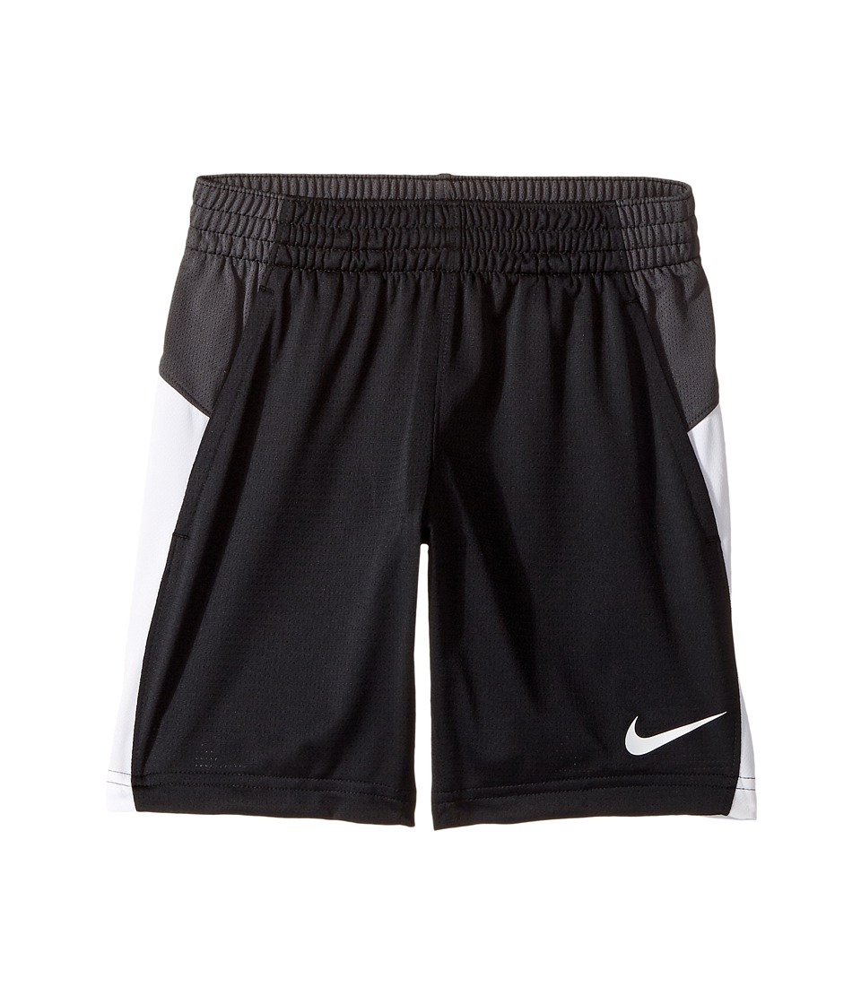 Nike Kids - Dry 7 Basketball Short (Little Kids/Big Kids) (Black/Anthracite/White/White) Girl's Shorts