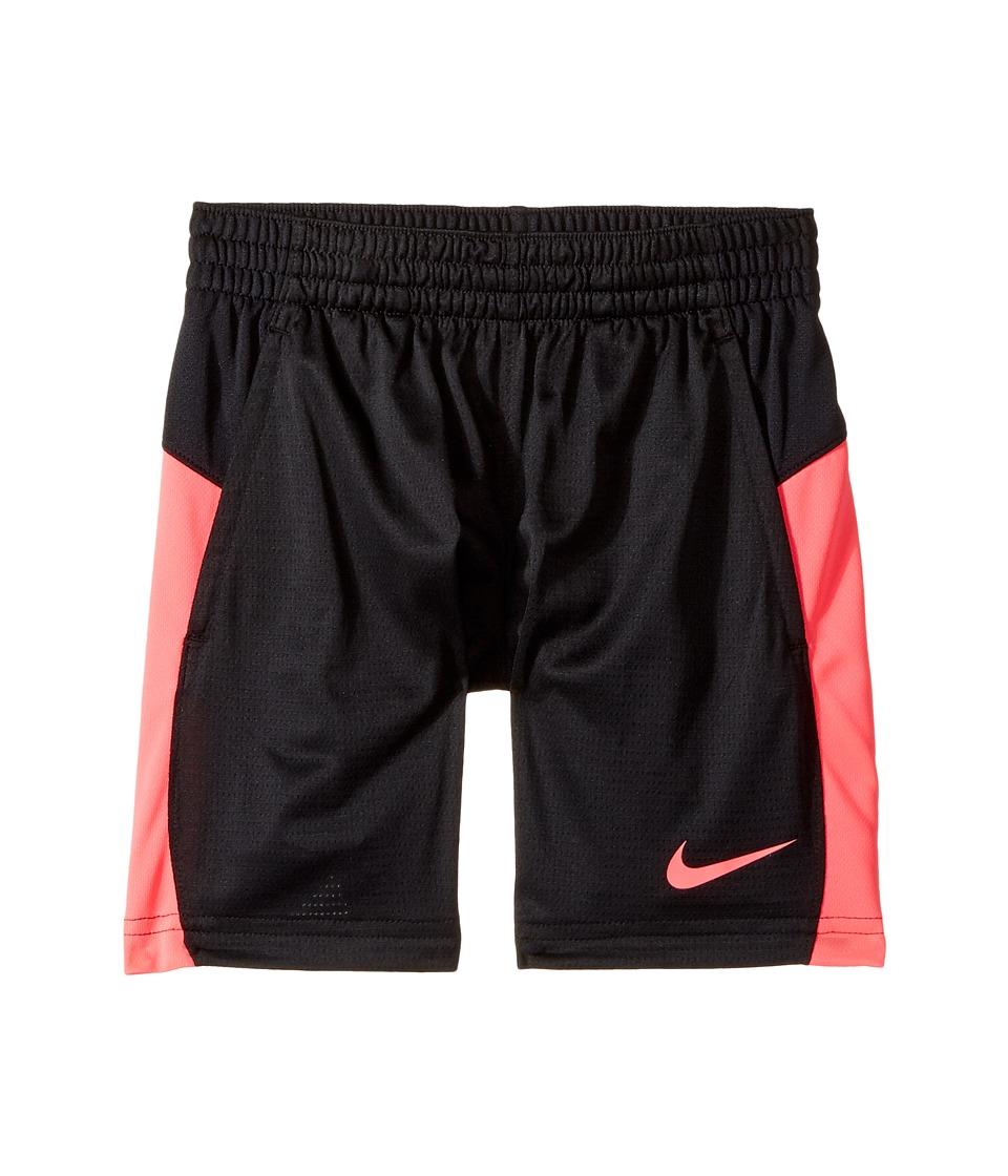 Nike Kids - Dry 7 Basketball Short (Little Kids/Big Kids) (Black/Black/Racer Pink/Racer Pink) Girl's Shorts