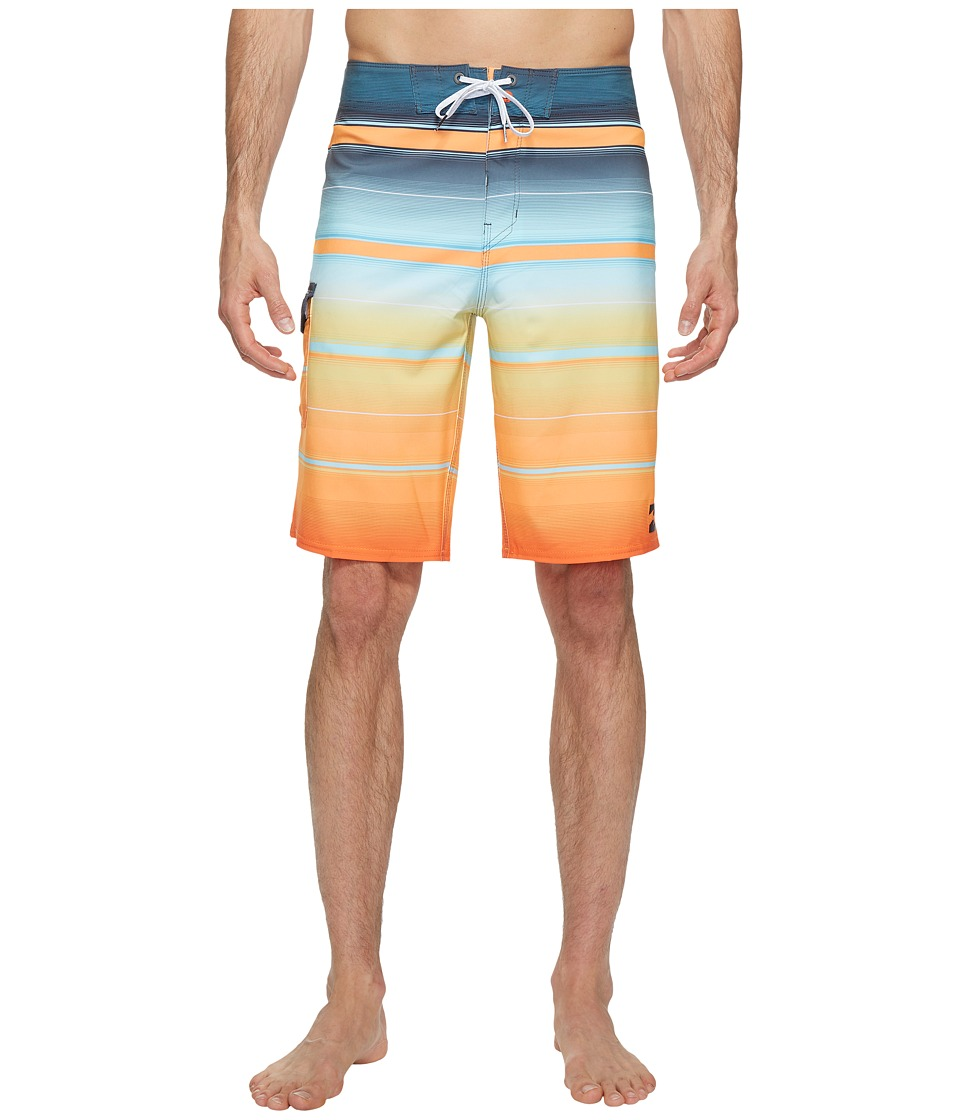 Billabong - All Day X Stripe Boardshorts (Tangerine) Men's Swimwear