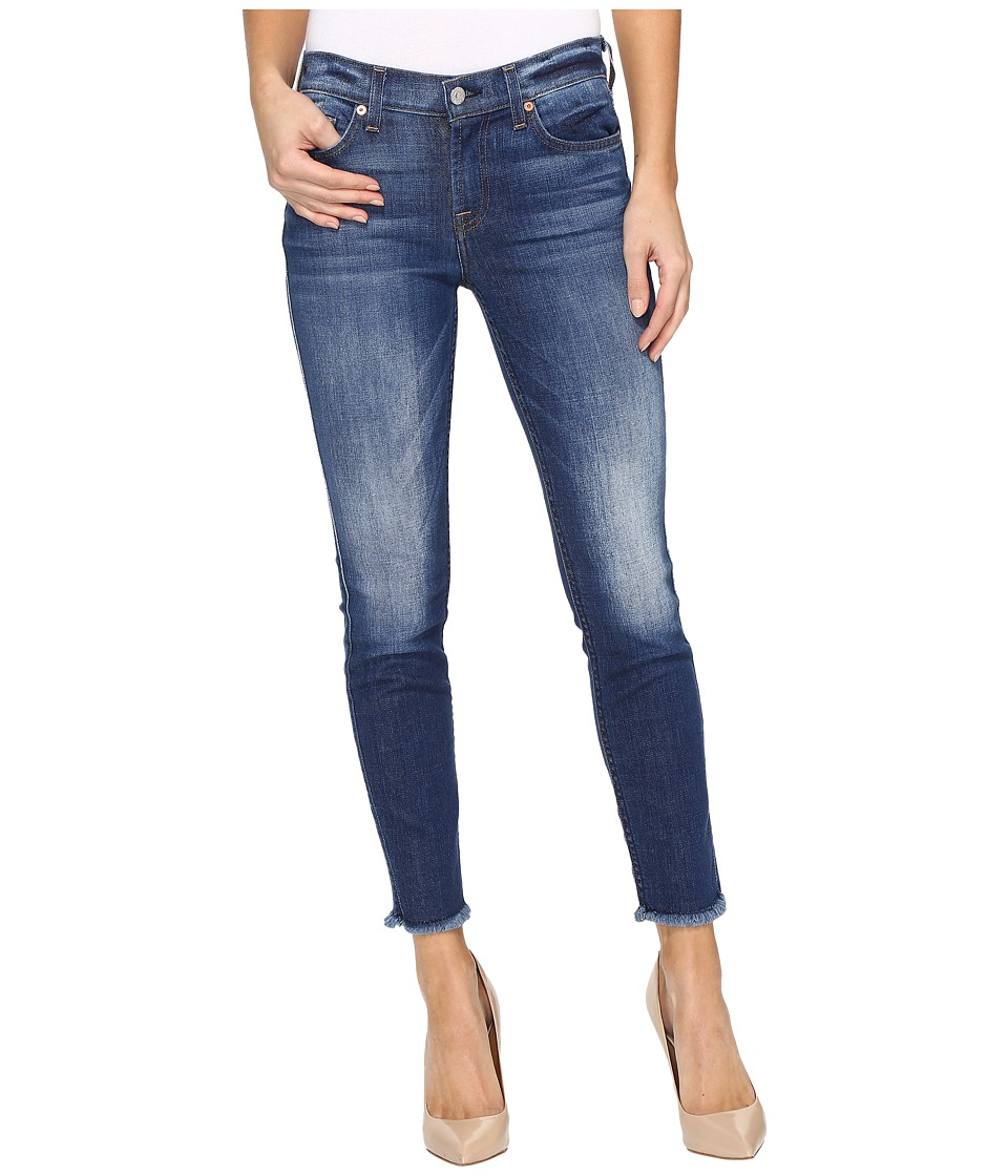 7 For All Mankind - The Ankle Skinny w/ Raw Hem in Bondi Beach (Bondi Beach) Women's Jeans