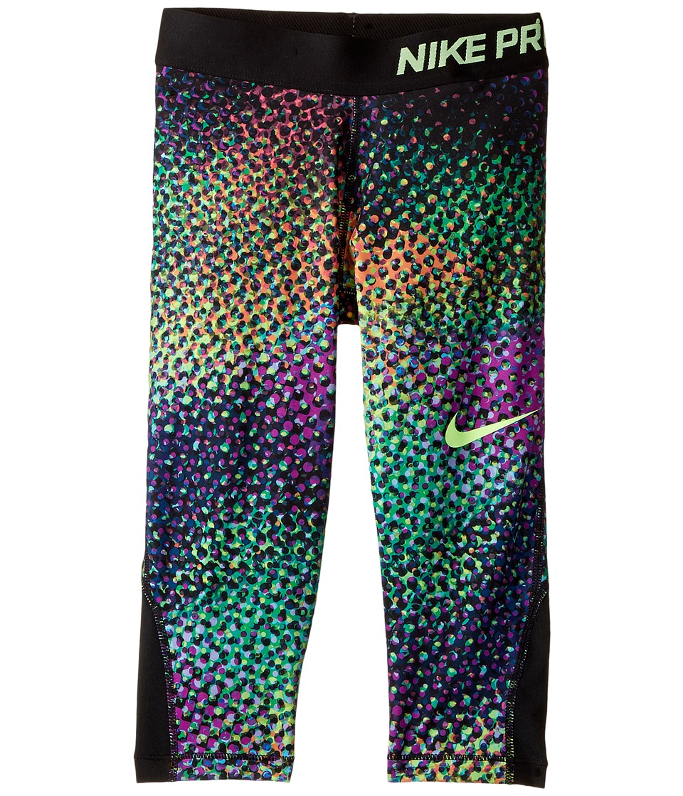 Nike Kids - Pro Hypercool Printed Training Capri (Little Kids/Big Kids) (Stadium Green/Black/Black/Ghost Green) Girl's Clothing