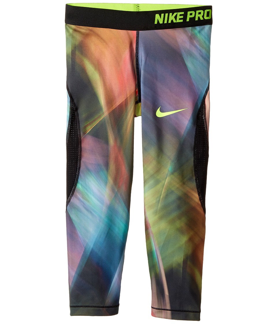 Nike Kids - Pro Hypercool Training Capri (Little Kids/Big Kids) (Barely Volt/Black/Black/Volt) Girl's Clothing