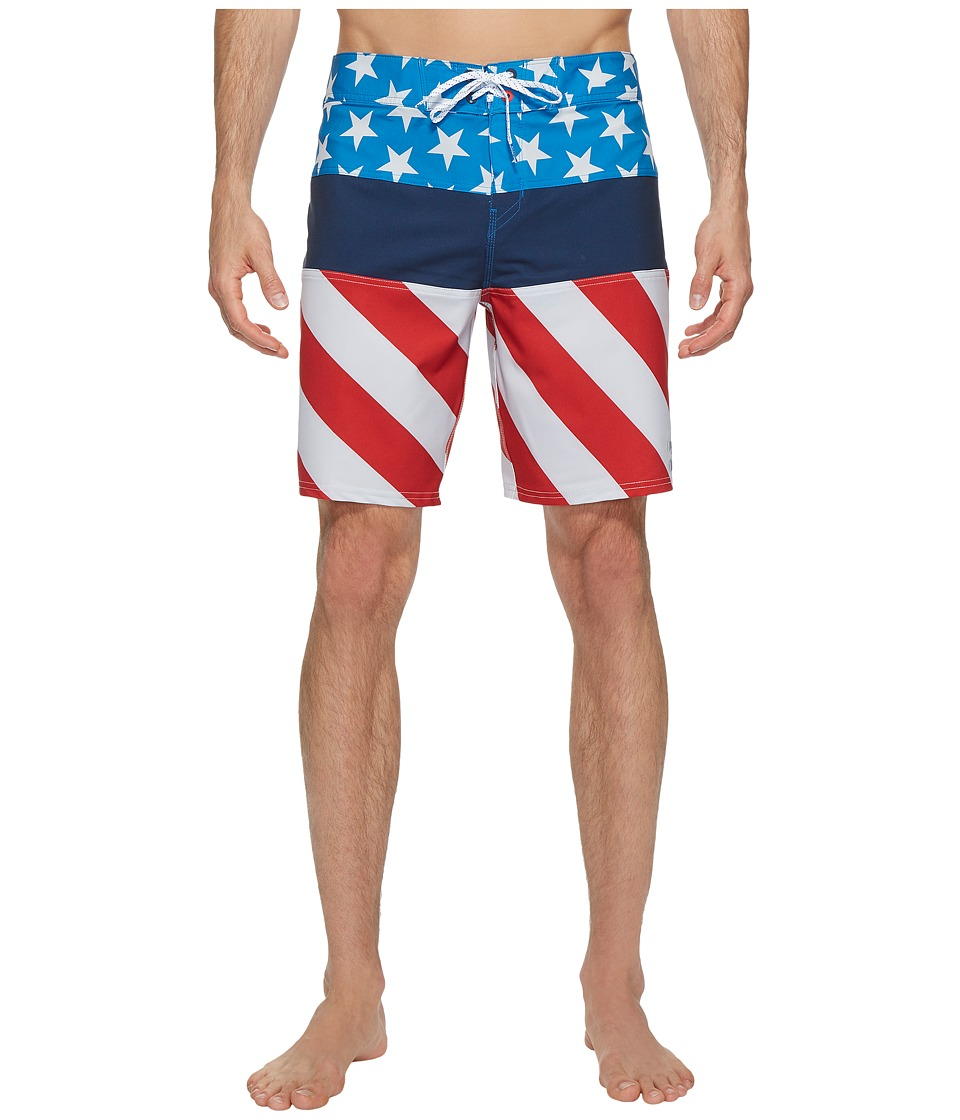 Billabong - Tribong X Boardshorts (Red/Blue) Men's Swimwear