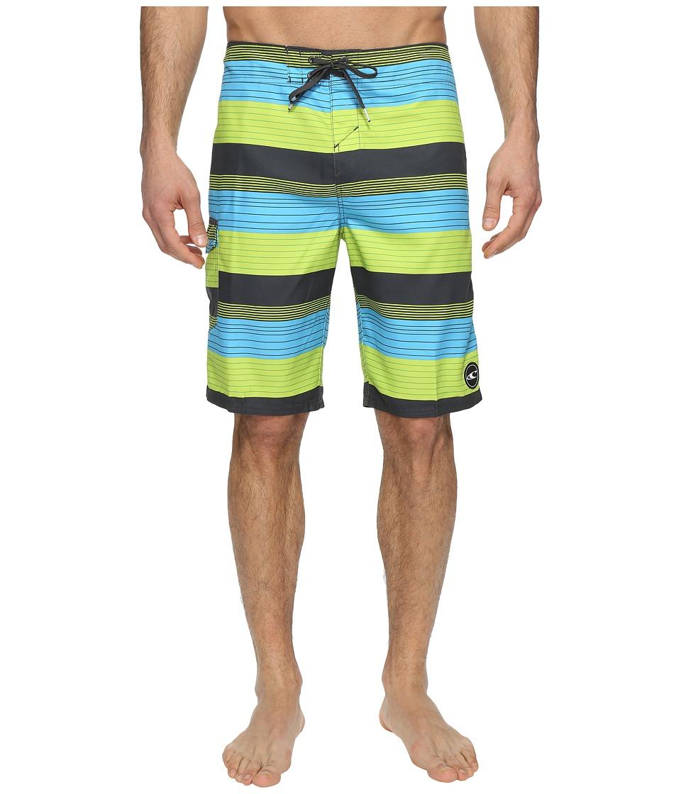 O'Neill - Santa Cruz Stripe Boardshorts (Lime) Men's Swimwear