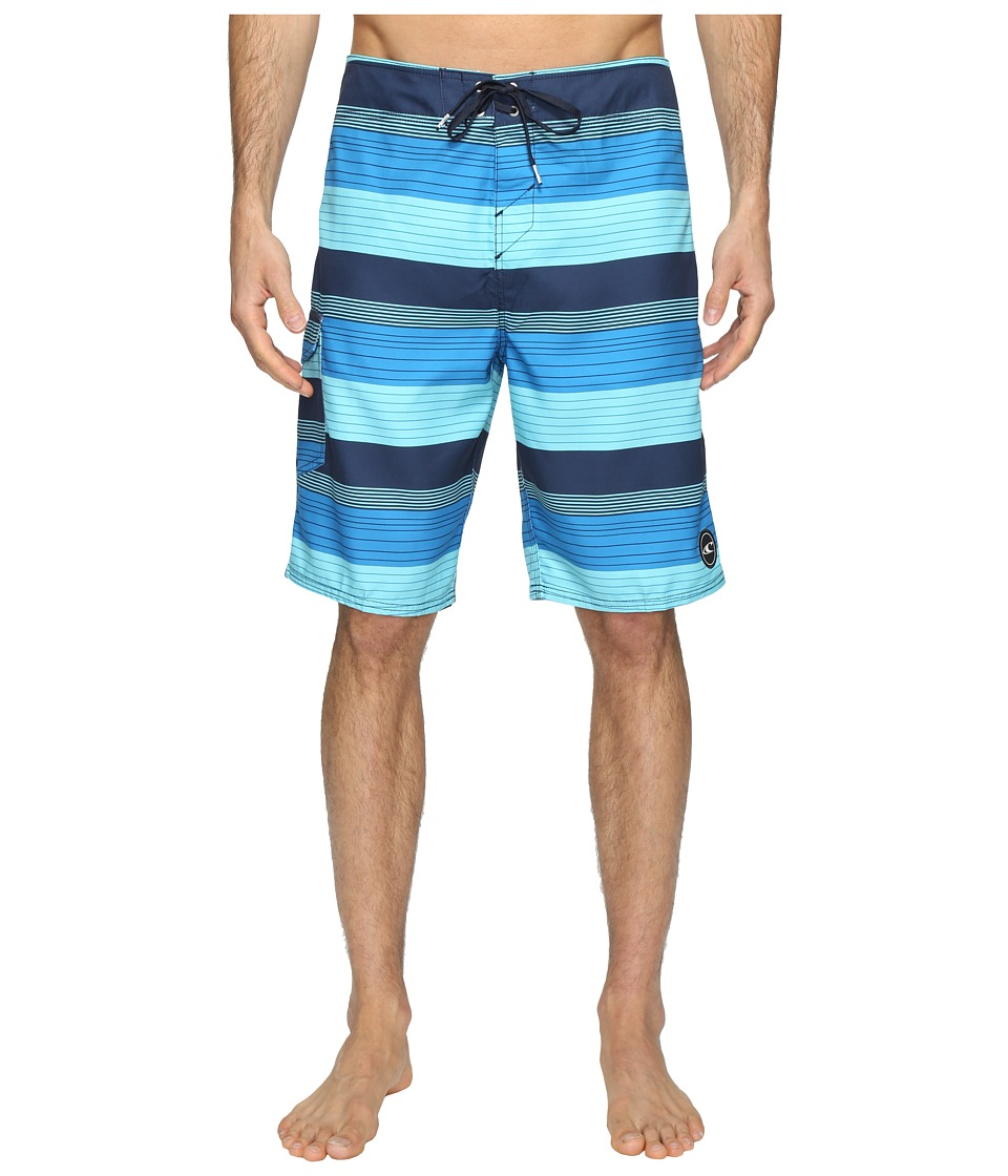 O'Neill - Santa Cruz Stripe Boardshorts (Navy) Men's Swimwear