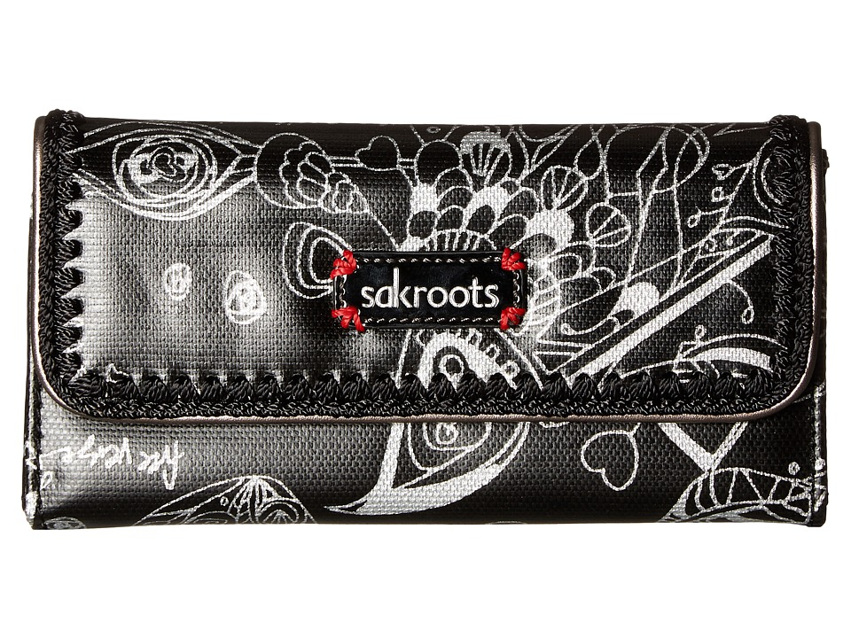 Sakroots - Artist Circle Trifold Wallet (Metallic Songbird) Wallet Handbags