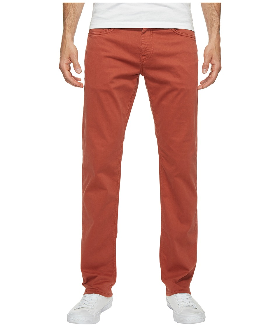 Mavi Jeans Zach Regular Rise Straight Leg Twill in Brick Red Twill (Brick Red Twill) Men
