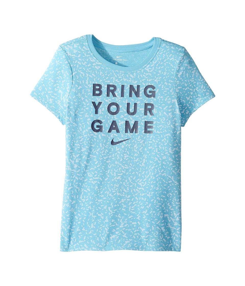 Nike Kids - Dry Basketball Tee (Little Kids/Big Kids) (Vivid Sky/Binary Blue) Girl's Clothing