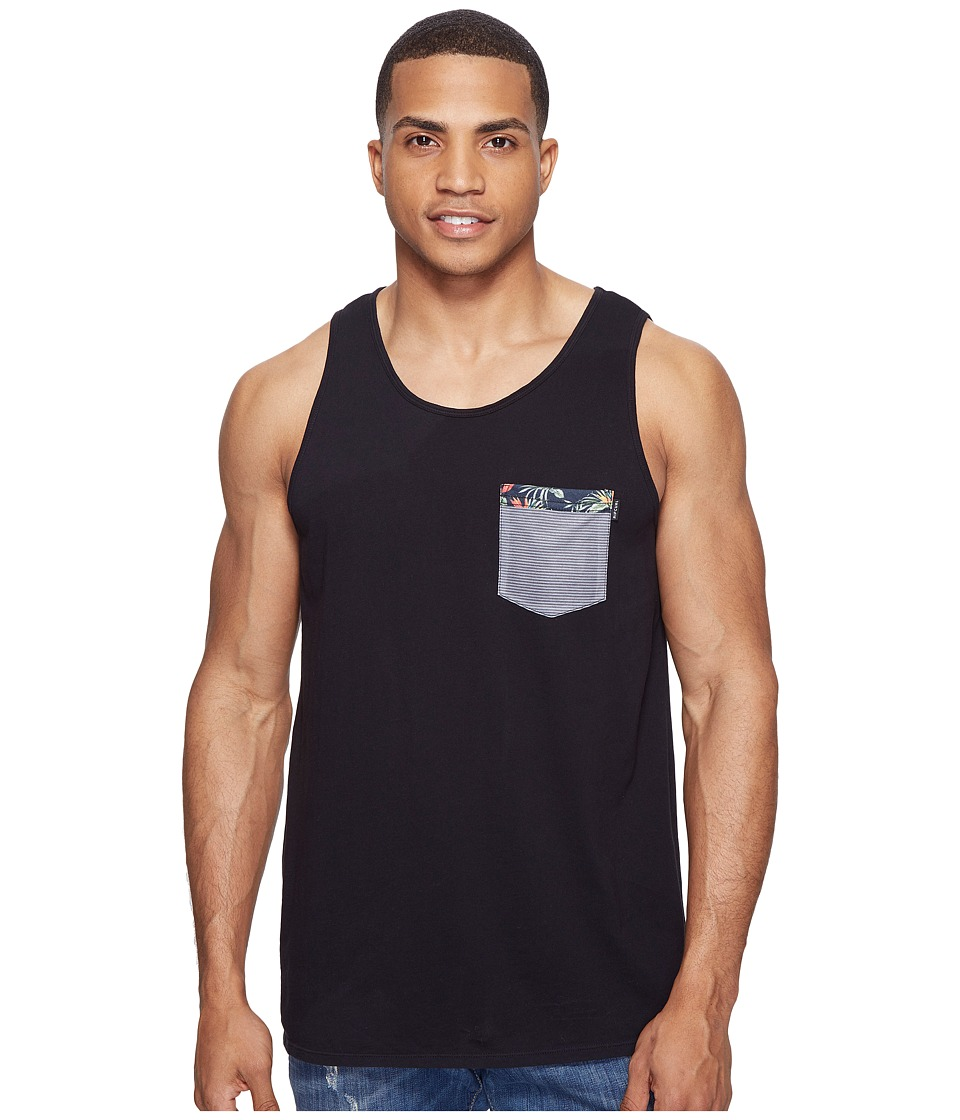Rip Curl - Values Pocket Custom Tank Top (Black) Men's Sleeveless
