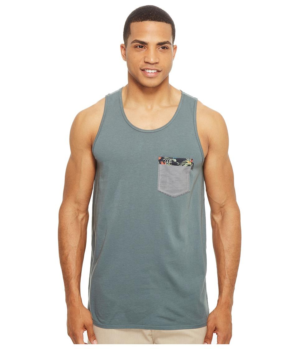 Rip Curl - Values Pocket Custom Tank Top (Teal) Men's Sleeveless