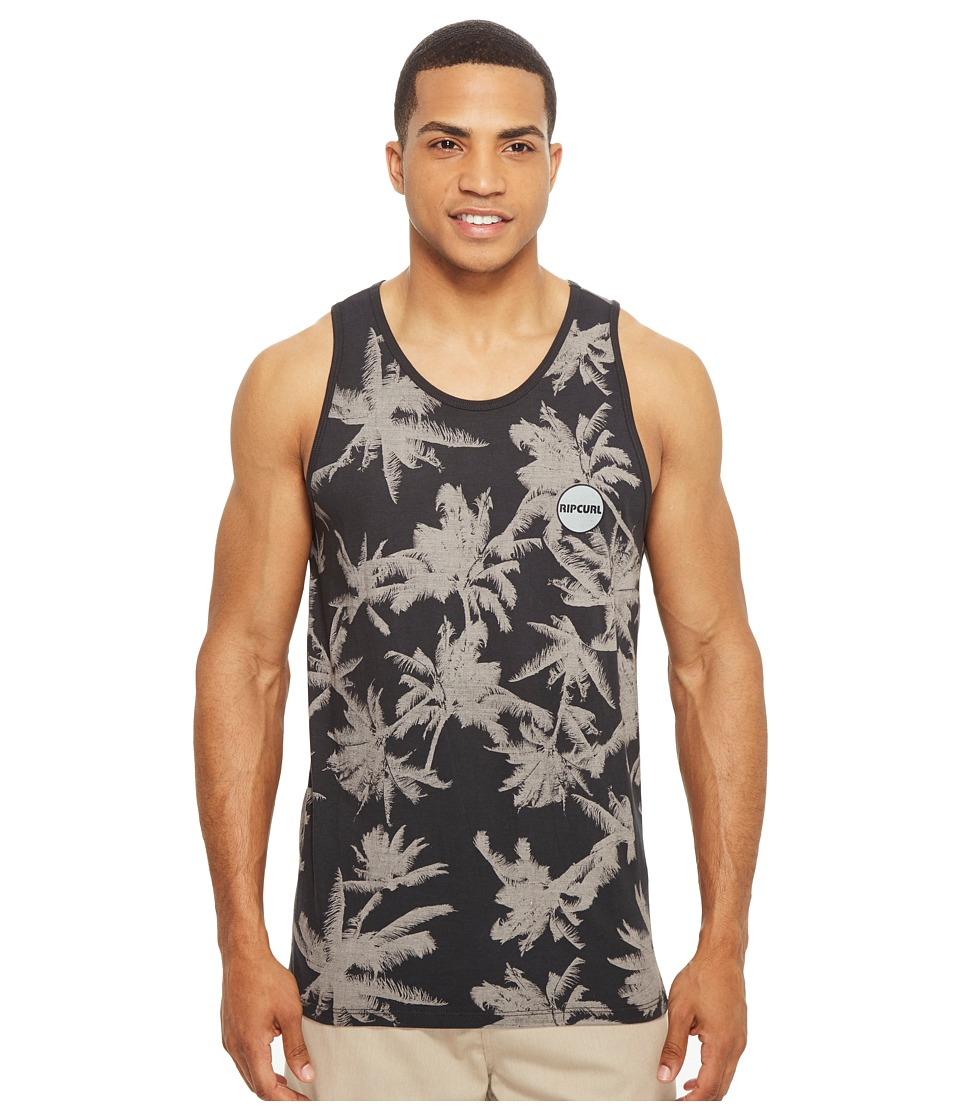 Rip Curl - Palm Time Custom Tank Top (Charcoal) Men's Sleeveless
