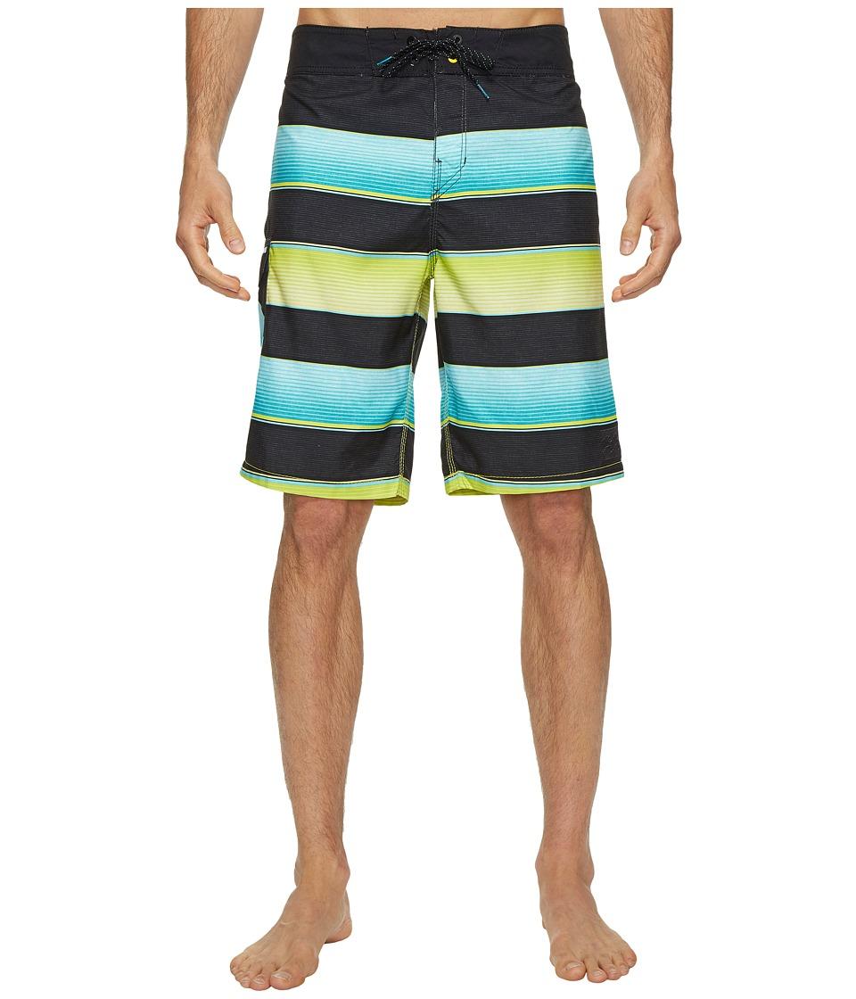 Billabong All Day Originals Stripe Boardshorts (Aqua) Men