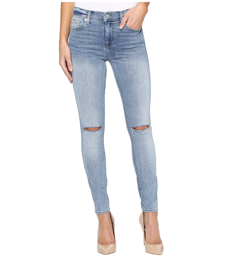 7 For All Mankind - The Ankle Skinny w/ Knee Slits in Cresent Valley (Cresent Valley) Women's Jeans