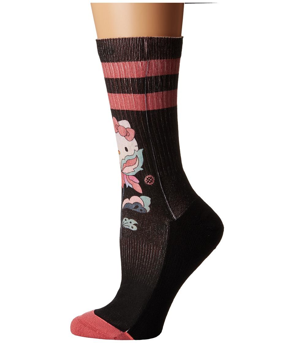 Stance - Flower Friend (Black) Women's Crew Cut Socks Shoes