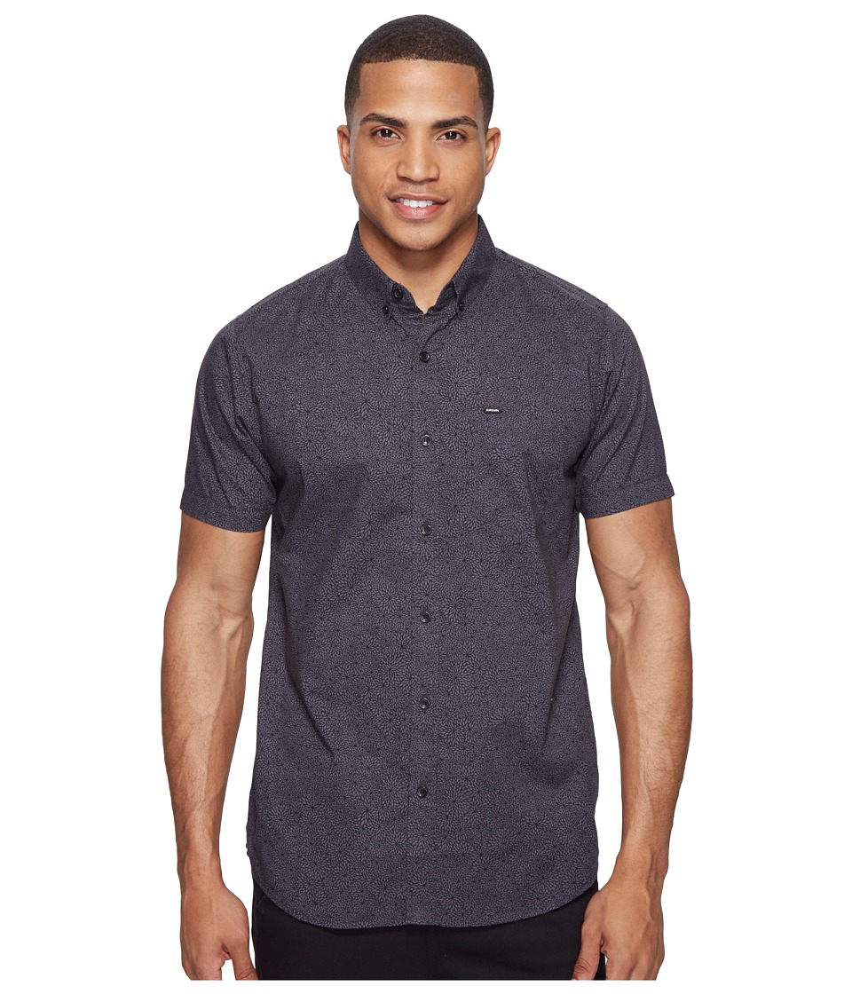 Rip Curl - Seedy Short Sleeve Shirt (Black) Men's Clothing