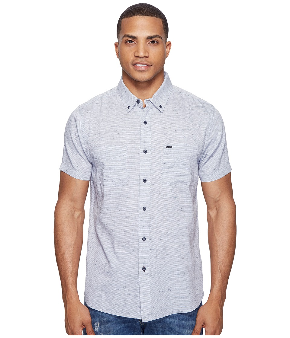 Rip Curl - Mainline Short Sleeve Shirt (Aqua) Men's Clothing