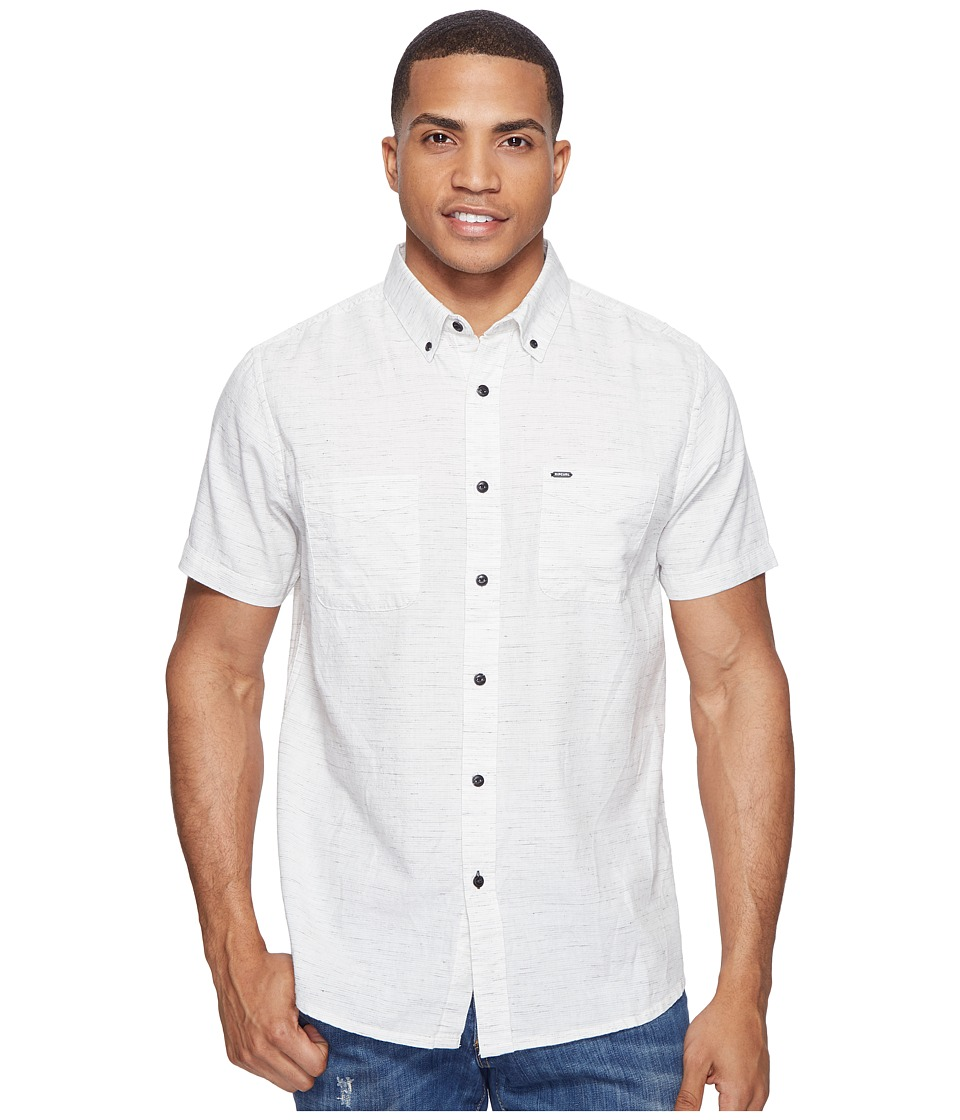 Rip Curl - Mainline Short Sleeve Shirt (Off-White) Men's Clothing