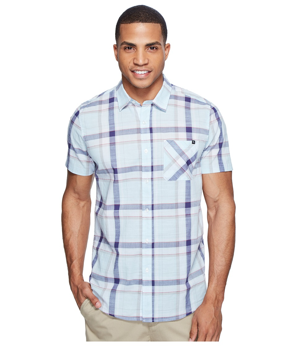 Rip Curl - Marco Short Sleeve Shirt (Blue) Men's Clothing
