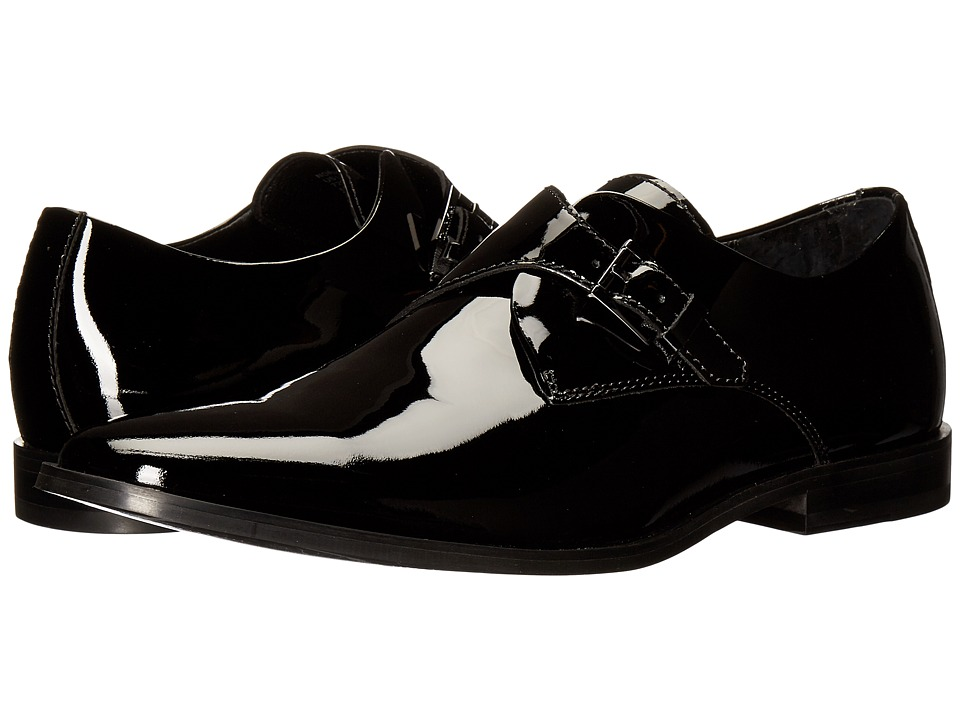 Calvin Klein - Norm (Black Patent) Men's Slip-on Dress Shoes