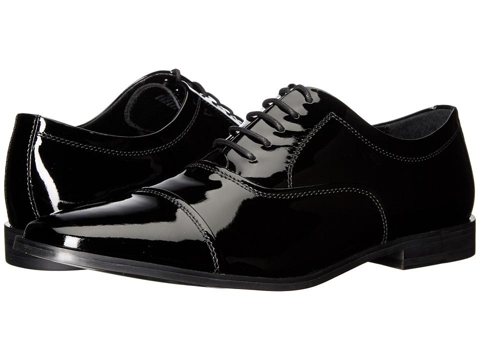 Calvin Klein - Nino (Black Patent) Men's Plain Toe Shoes