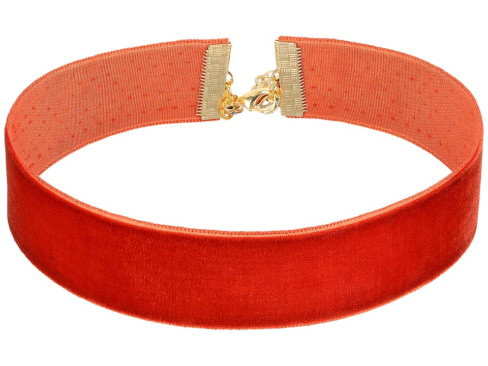 Vanessa Mooney - The Marla Choker Necklace (Burnt Orange) Necklace