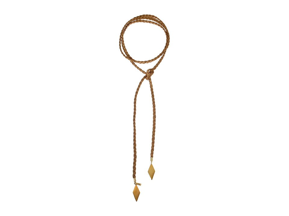 Vanessa Mooney - The Braided Diamond Bolo Necklace (Gold) Necklace