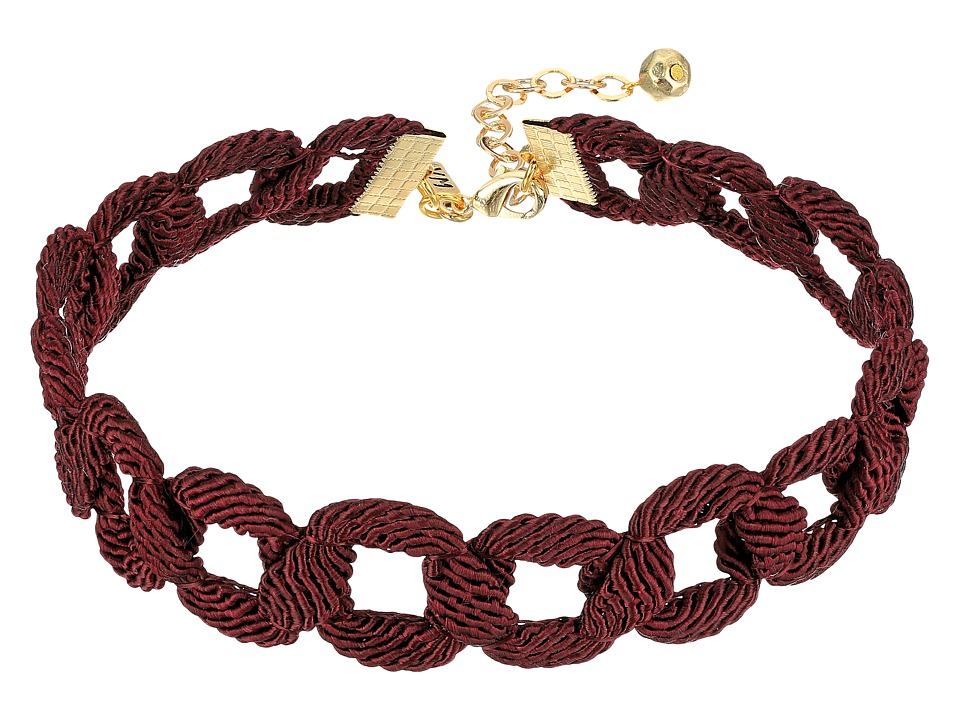 Vanessa Mooney - Red Wine Choker Necklace (Maroon) Necklace