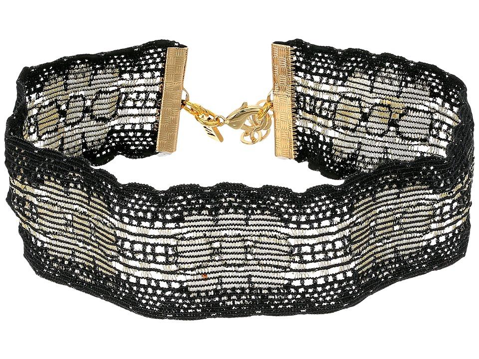 Vanessa Mooney - The Parisa Choker Necklace (Black) Necklace