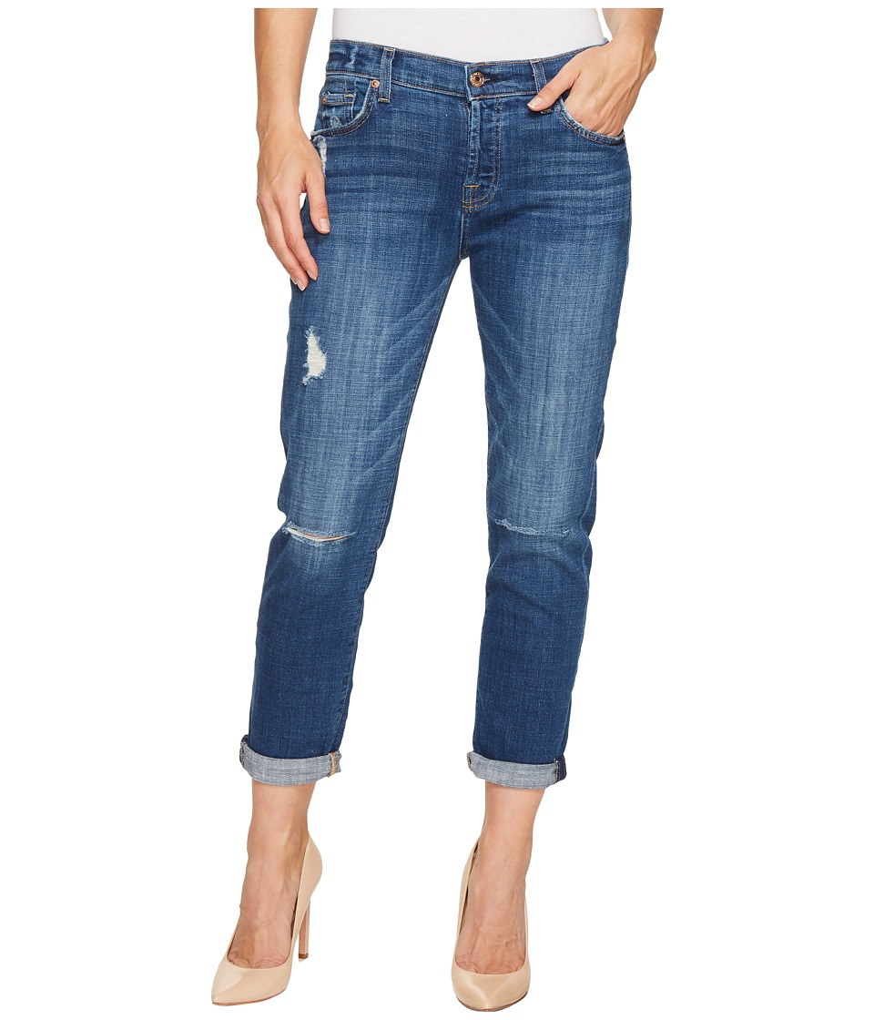7 For All Mankind - Josefina w/ Destroy in Barrier Reef Broken Twill (Barrier Reef Broken Twill) Women's Jeans