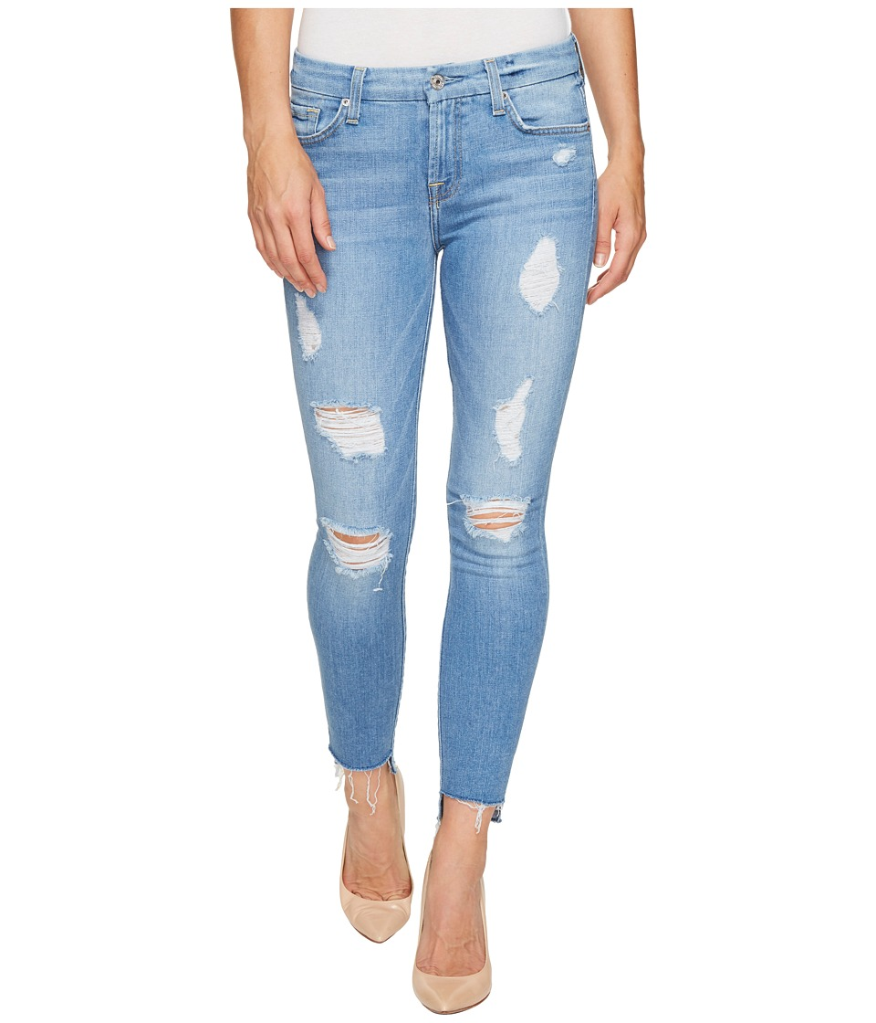 7 For All Mankind - Ankle Skinny w/ Destroy Step Hem in Melbourne Sky (Melbourne Sky) Women's Jeans