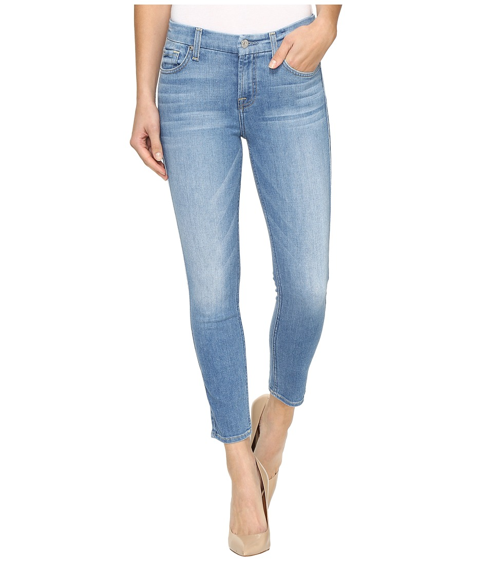 7 For All Mankind - Crop Skinny in Melbourne Sky (Melbourne Sky) Women's Jeans